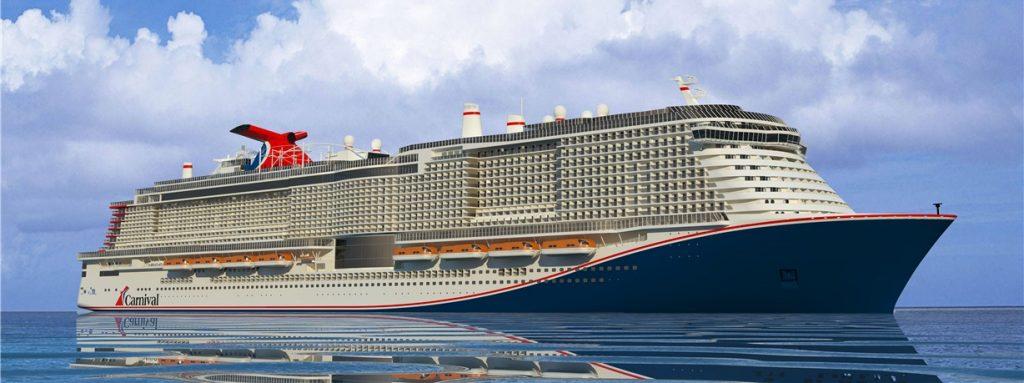 Sivukuva Carnival Cruise Linesin tilaamasta risteilijästä, työnimeltään XL1
