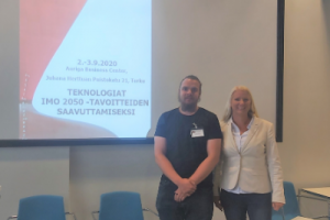 In the picture Teemu, PM ship design and Paula, PM cleantech, Allstars Engineering Group.
